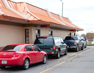 Restaurant music helps make the drive-thru lane move quicker and increase sales.