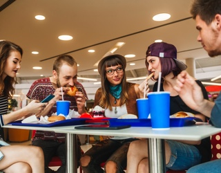 In-store music causes customers to eat more quickly and helps turn the tables faster.